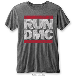 Run DMC Men's Fashion Tee: DMC Logo (Burn Out)