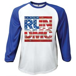 Run DMC Men's Raglan Tee: Americana (Large)