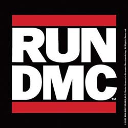 Run DMC Single Cork Coaster: Logo