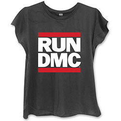 Run DMC Ladies Fashion Tee: Logo with Skinny Fitting