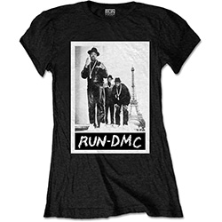 Run DMC Ladies Tee: Paris Photo