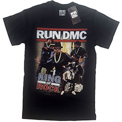 Run DMC Unisex Tee: King of Rock Homage