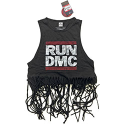 Run DMC Ladies Tee Vest: Logo Vintage (Tassels)