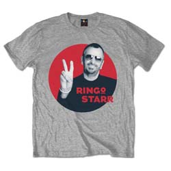 Ringo Starr Men's Tee: Peace Red Circle