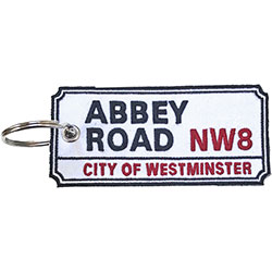 Road Sign Keychain: Abbey Road, NW London Sign (Double Sided Patch)