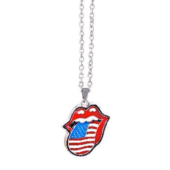 The Rolling Stones Necklace: USA tongue