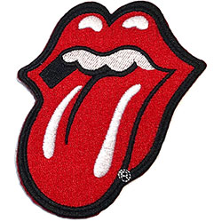 The Rolling Stones Standard Patch: Classic Tongue with Iron On Finish