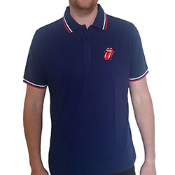 The Rolling Stones Unisex Polo Shirt: Classic Tongue