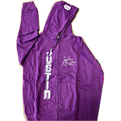Justin Beiber Unisex Zipped Hoodie: Vertical (Ex Tour) (Large Only)