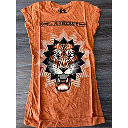 Axewound Ladies Tee: Super Heavy Lion Logo (Ex Tour)