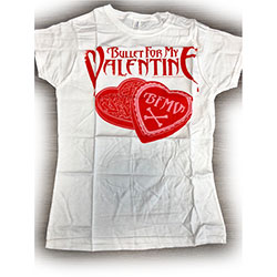 Bullet For My Valentine Ladies Tee: Bullet in a Box (Ex Tour) (Medium)