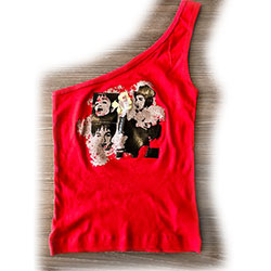 Madonna Ladies Tee Vest: Shoulder (Ex Tour)