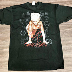 Madonna Unisex Tee: Re-invention Tour (Ex Tour) (Large Only)