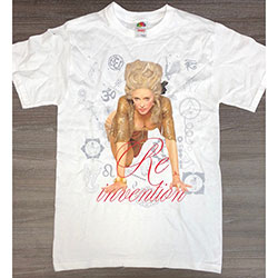 Madonna Unisex Tee: Re-invention Tour LA (Ex Tour)