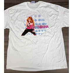 Madonna Unisex Tee: Confessions Tour USA (Ex Tour) (Large Only)