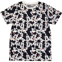 Disney Unisex Tee: Mickey Mouse AOP Heads