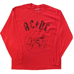 AC/DC Unisex Long Sleeved Tee: For Those About to Rock