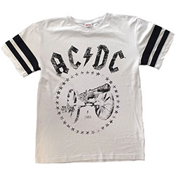 AC/DC Unisex Tee: For Those About to Rock American Football Style