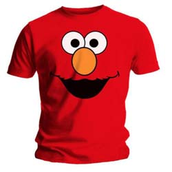 Sesame Street Men's Tee: Elmos Face Red