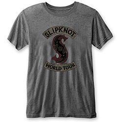 Slipknot Unisex Tee: World Tour (Burn Out)