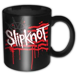 Slipknot Boxed Standard Mug: Dripping Flag & Logo
