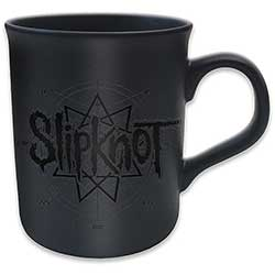 Slipknot Boxed Standard Mug: Logo Star (Black on Black Matt)