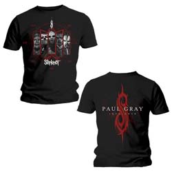 Slipknot Unisex Tee: Paul Gray (Back Print)