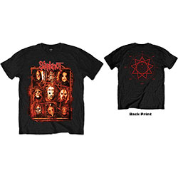 Slipknot Unisex Tee: Rusty Face (Back Print)