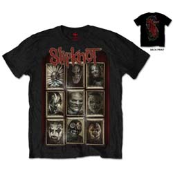 Slipknot Unisex Tee: New Masks (Back Print)