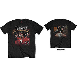 Slipknot Unisex Tee: Debut Album 19 Years (Back Print)