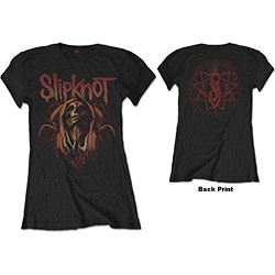 Slipknot Ladies Tee: Evil Witch (Back Print)