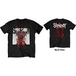 Slipknot Unisex Tee: Devil Single - Logo Blur (Back Print)