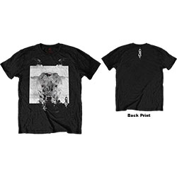 Slipknot Unisex Tee: Devil Single - Black & White (Back Print)