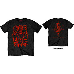 Slipknot Unisex Tee: WANYK Red Patch (Back Print)