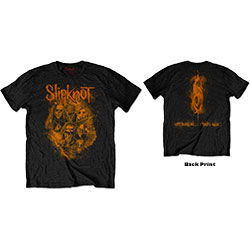 Slipknot Unisex Tee: WANYK Orange (Back Print)