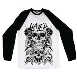 Slayer Men's Raglan Tee: Skulls