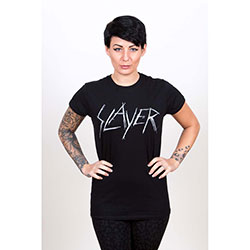 Slayer Ladies Tee: Scratchy Logo
