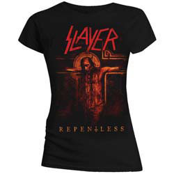 Slayer Ladies Tee: Repentless Crucifix