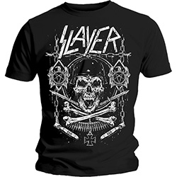 Slayer Men's Tee: Skull & Bones Revised