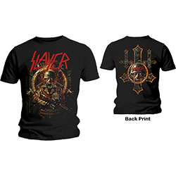 Slayer Men's Tee: Hard Cover Comic Book (Back Print)