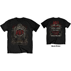 Slayer Unisex Tee: Eagle Grave 21/06/18 Iceland Event (Back Print/Ex Tour)