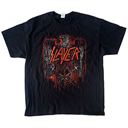 Slayer Unisex Tee: Blood Eagle European Tour 2018 (Back Print/Ex Tour)
