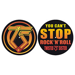 Twisted Sister Slipmat Set: You Can't Stop Rock n' Roll