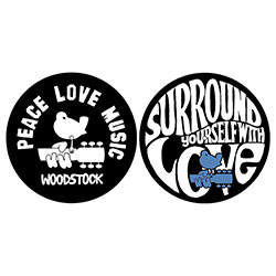 Woodstock Slipmat Set: Peace Love Music
