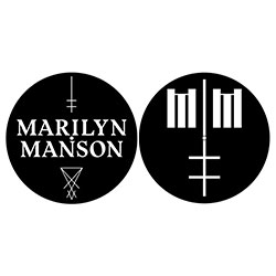 Marilyn Manson Slipmat Set: Logo/Cross