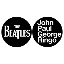 The Beatles Turntable Slipmat Set: John, Paul, George, Ringo