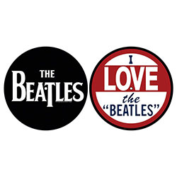 The Beatles Turntable Slipmat Set: I Love The Beatles