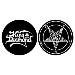 King Diamond Turntable Slipmat Set: Logo/Pentagram (Retail Pack)