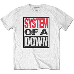 System Of A Down Unisex Tee: Triple Stack Box
