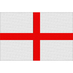 Generic Standard Patch: St Georges Cross Flag (Loose)